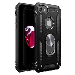 iPhone 7 Case   iPhone 8 Case [ Military Grade ] 15ft. Drop Tested Protective Case   Kickstand   Compatible with Apple iPhone 8 / iPhone 7 / iPhone 6 6s- Black